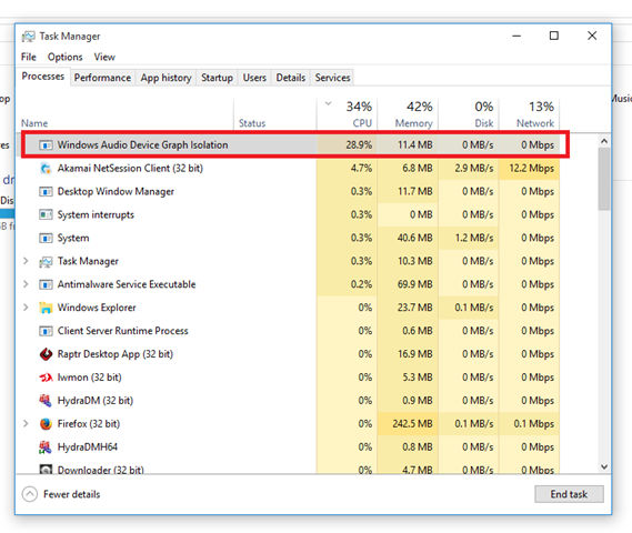 audiodg.exe Windows Graphisolierung für Audiogeräte (32-Bit)
