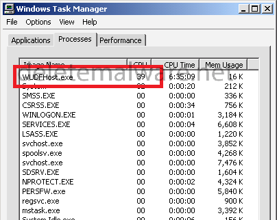 WUDFHost.exe Windows Driver Foundation - Værtsproces for USD-struktur (user-mode driver)