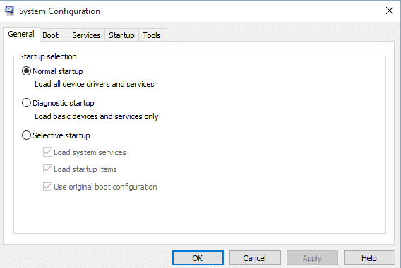 msconfig.exe System Configuration Utility